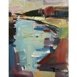 Jose Trujillo Abstract River Signed Oil Painting For Sale