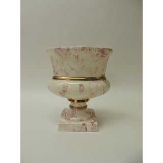 Pair of Oval Faux Marbleize Vintage Pink Cachepot Preview