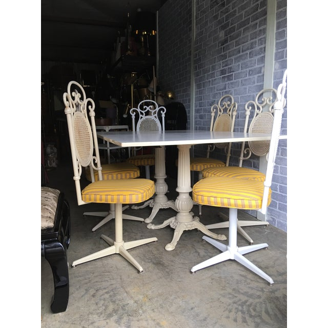 Vintage Victorian White Cast Iron Dining Set For Sale - Image 11 of 13