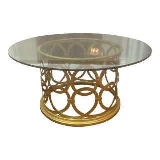Bernhardt Glass Coffee Table For Sale