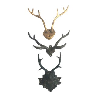Small Iron Antlers - Set of 3
