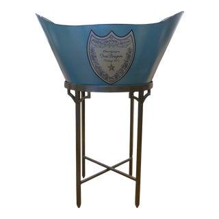 Dom Perignon Ice Bucket & Stand For Sale