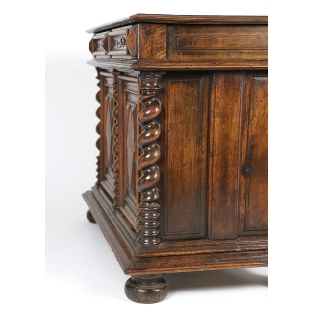 Late 17th Century French Baroque Period Carved Walnut Buffet For Sale - Image 4 of 5