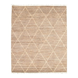 "Beige Hand-Knotted Rug--8'2"" X 9'11"" For Sale"