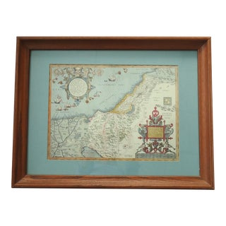 Vintage Print of Antique Palestine & Syria Map