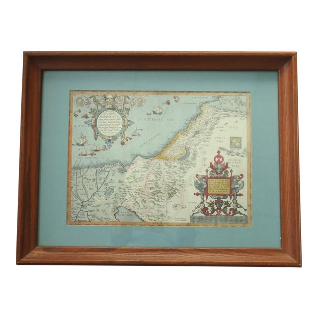 Vintage Print of Antique Palestine & Syria Map - Image 1 of 5