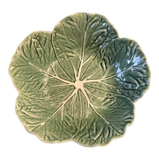 Ceramic Bordallo Lettuce Bowl For Sale