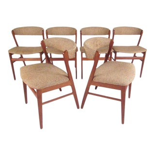 Set of Scandinavian Modern Teak Dining Chairs by Sax For Sale