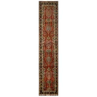 Vintage Persian Tabriz Rug - 3′1″ × 15′10″ For Sale