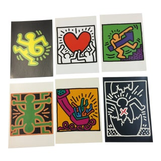 Keith Haring Postcards 1993 - Set of 6 For Sale