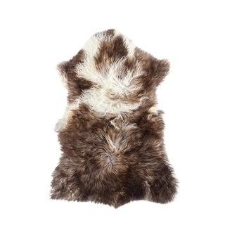 Hand-Tanned Sheepskin Pelt Rug - 2′2″ × 3′5″