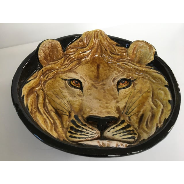 Mid-Century Italian Hollywood Regency Lion Decorative Bowl/Catchall For Sale - Image 6 of 11
