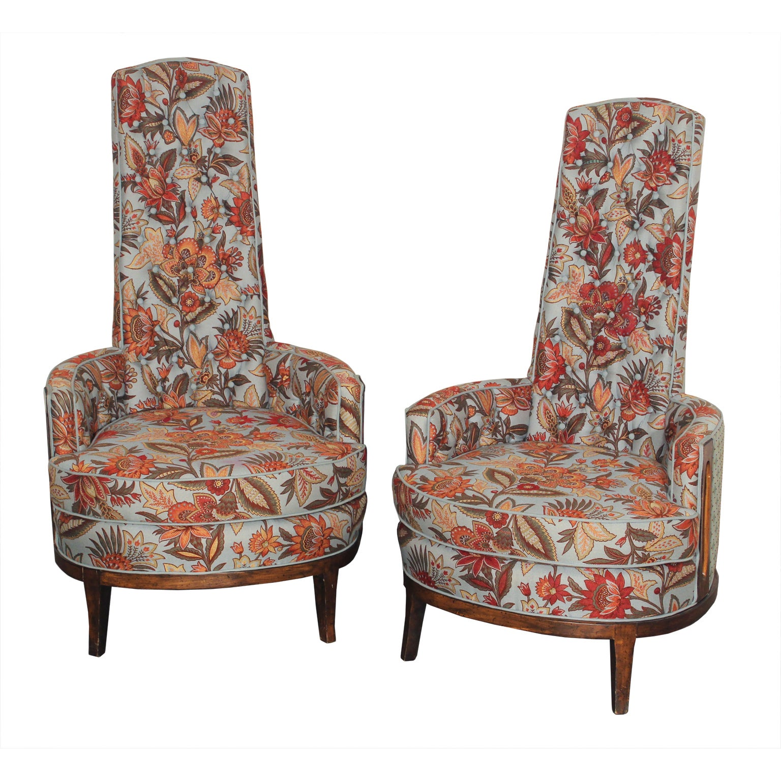 Mid Century Adrian Pearsall Style Chairs - Pair