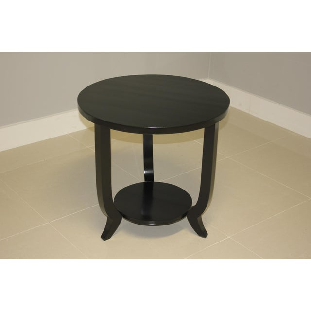 1940s French Art Deco Black Ebonized Coffee / Side Table For Sale - Image 13 of 13