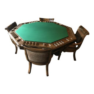 Hooker Game Table & 4 Game Chairs For Sale