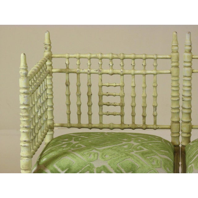 White 19th Century Corner Chairs - a Pair For Sale - Image 8 of 11