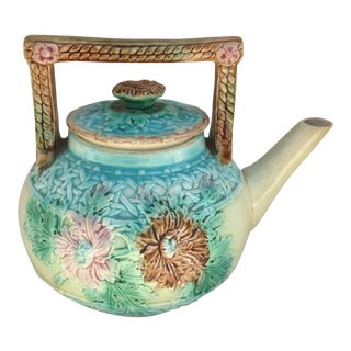 Antique Majolica Tea Pot