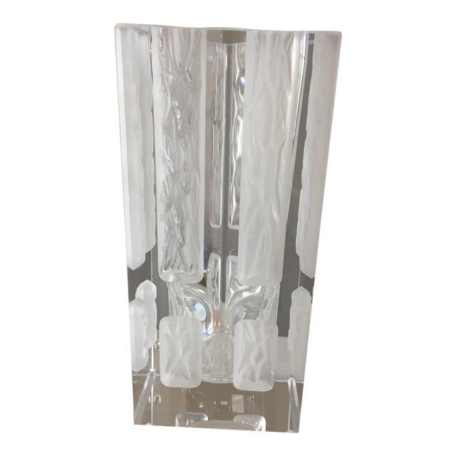Vintage Hoya Winter Windows Crystal Etched Vase Chairish