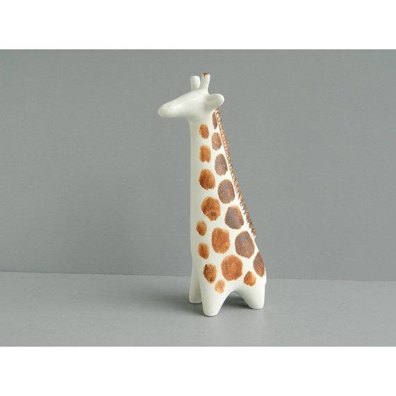 Mid-Century Modern Vintage Arabia Finland Ceramic Giraffe Figure For Sale - Image 3 of 10