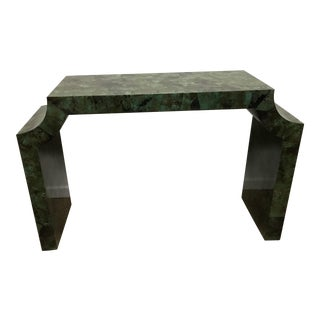 Green Shell Console Table For Sale