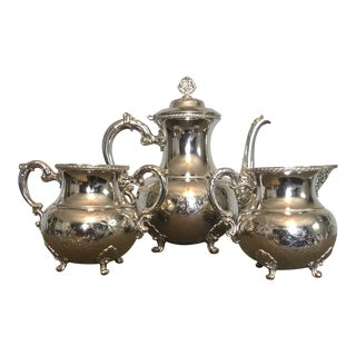 19th Century Victorian Homan Silver Co. Silver Plated Coffee Service - 3 Pieces