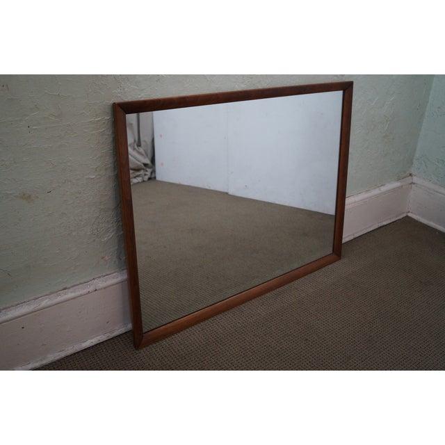 Heritage Henredon Mid-Century Modern Walnut Mirror - Image 7 of 10