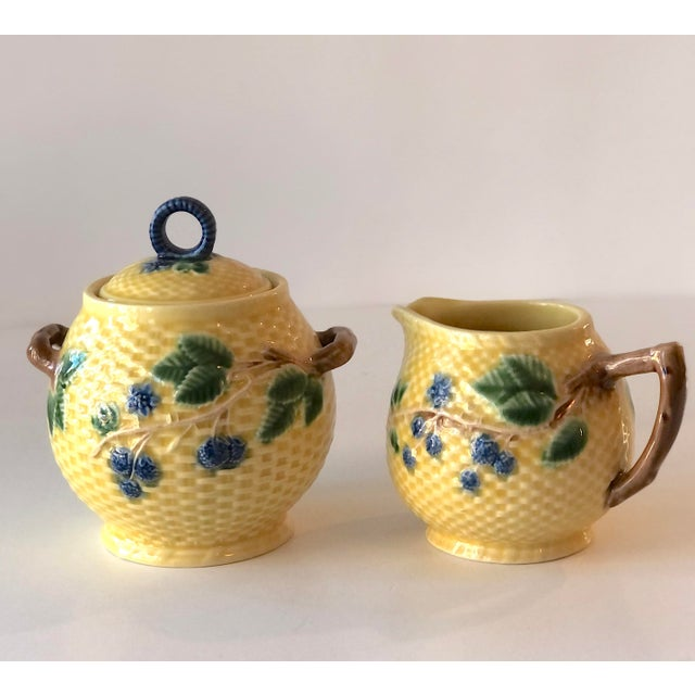 1970s Tiffany & Co. Majolica Blackberries Tea Set With 12 Dessert Plates - Vintage For Sale - Image 5 of 12