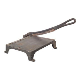Cast Iron and Brass Guillotine Paper Cutter C.1930-1950 For Sale