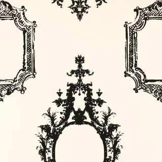 Schumacher Go Baroque Wallpaper in Noir & Blanc Preview