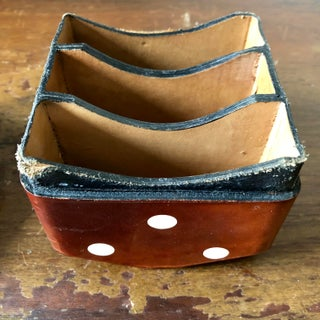 Vintage Italian Leather Die Card Holder Preview