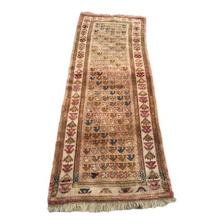 "Hand Made Vintage Tribal Turkish Runner - 2'11"" X 7'9"" For Sale"
