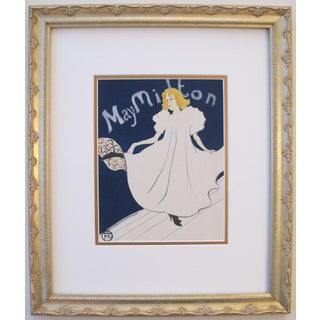 Framed 1950 Toulouse Lautrec May Milton Poster