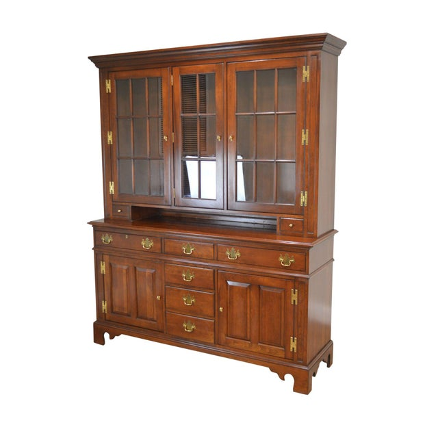 Councill Craftsman Cherry Pennsylvania Style Dutch Cupboard For Sale - Image 13 of 13