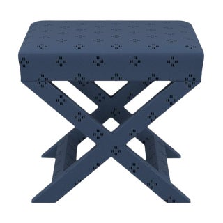 X Bench in Azul Faro For Sale