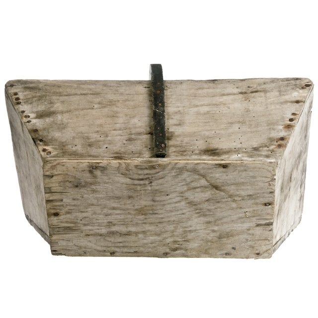 Vintage French Wood Garden Trug With Rubber Handle - Image 6 of 6