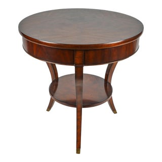 Ralph Lauren Noble House Mahogany Bedside End Table For Sale