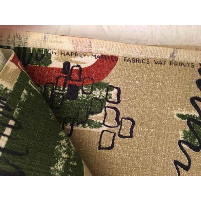 Mid-Century Modern Vintage Mid Century Modern Yardage Fabric- 11 Yds For Sale - Image 3 of 6