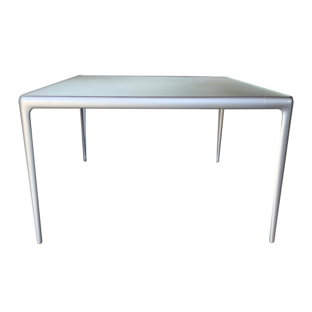 Contemporary B&b Italia Early Mirto Indoor Mirrored Glass Square Dining Table For Sale In San Diego - Image 6 of 6
