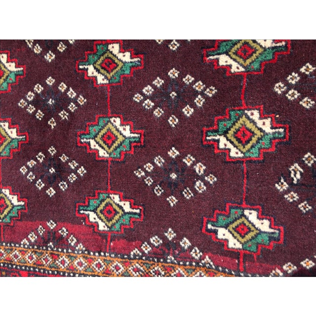 Red Patterned Persian Rug - 1′11″ × 2′9″ - Image 6 of 7
