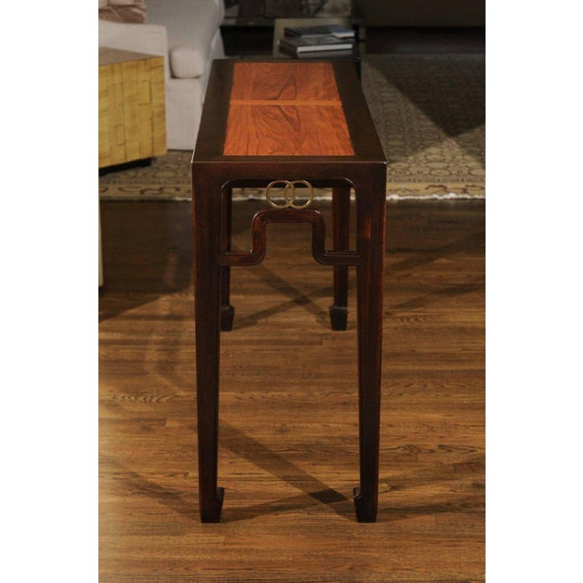 Teak Stunning Restored Altar Console Table by Michael Taylor for Baker, Circa 1970 For Sale - Image 7 of 11