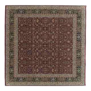 New Indian Tabriz Design Square Carpet - 10' X 10' For Sale