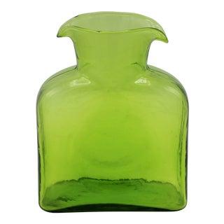 Vintage Blown Glass Double Spout Pitcher / Vase by Blenko For Sale