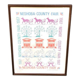 1987 Carl Thomas Signed & Numbered Poster, Neshoba County Fair Ms For Sale
