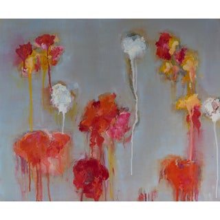 """Field Flowers 3"" Abstract Oil Painting by Bill Tansey For Sale"