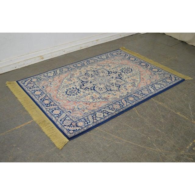 Traditional Karastan 4.3' x 6' Blue Heriz Area Rug #748 For Sale - Image 3 of 13