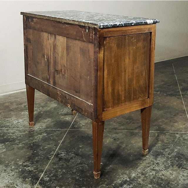 19th Century French Louis XVI ~ Directoire Style Marble Top Commode For Sale In Dallas - Image 6 of 13