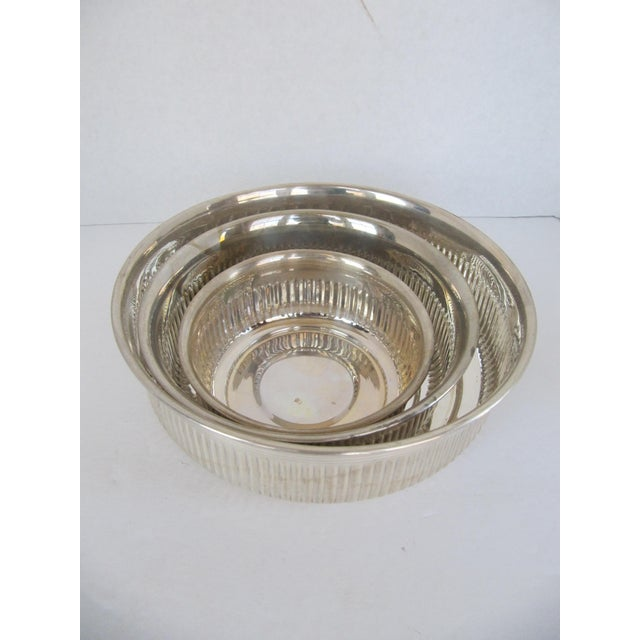 Silverplate Serving Bowls - 3 Pieces For Sale - Image 4 of 5