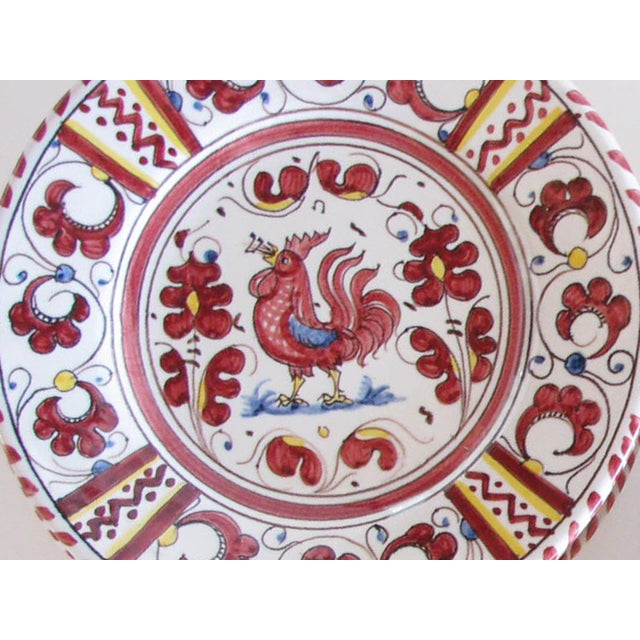 Vintage Pv Italy Orvieto Red Rooster 10 Place Settings Dinnerware Set - 70 Pieces For Sale - Image 9 of 13