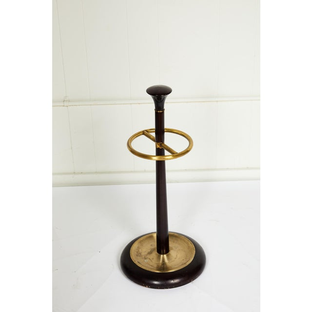20th Century Brass and Mahogany Umbrella Stand For Sale - Image 12 of 13