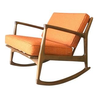 1960s Vintage Ib Kofod-Larsen Rocking Chair For Sale